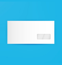 White Blank Closed Envelope Template vector