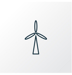 wind turbine icon line symbol premium quality vector image