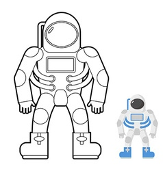 Astronaut coloring book of a space man vector image