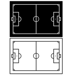 Black and white soccer field vector image