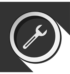 dark gray icon with spanner vector image vector image