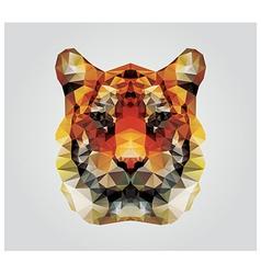 Geometric polygon tiger head triangle pattern vector image vector image