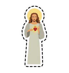 jesus christ icon image vector image vector image