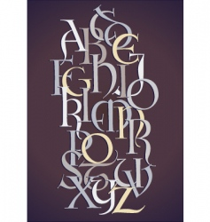 Lombard alphabet composition vector image vector image