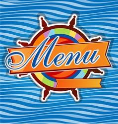 men restaurant with rudder vector image vector image