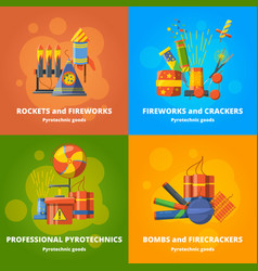pyrotechnics elements for party banners vector image