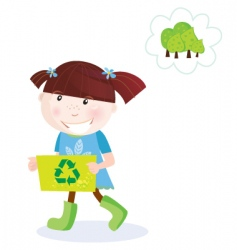 recycle child vector image vector image