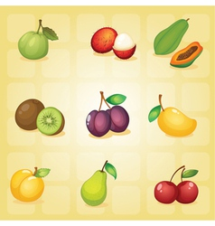 various fruits vector image