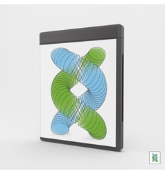 Blank DVD-case or CD-case 3d vector image