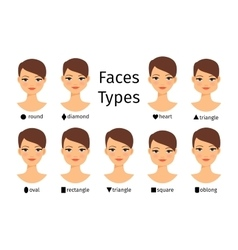 Female face shapes vector image