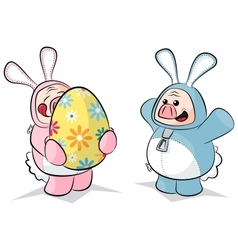 potbelly piggies easter bunnies vector image vector image