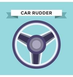 rudder flat icons set vector image vector image