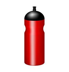 sport plastic water bottle in red design vector image vector image