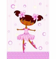 ballet girl vector image vector image
