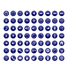 control panel buttons for a multimedia interface vector image