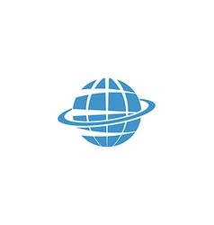 Globe mockup logo blue symbol of Earth internet or vector image vector image
