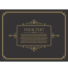 greeting card template Vintage greeting card vector image