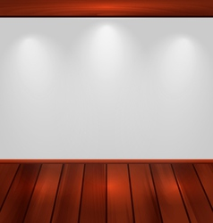 empty wall with light and wooden floor - vector image vector image