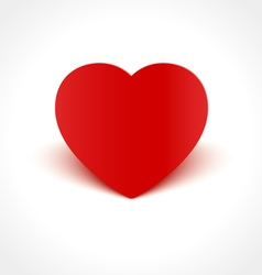 Heart Shape with Shadow vector image vector image