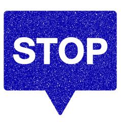 stop banner icon grunge watermark vector image