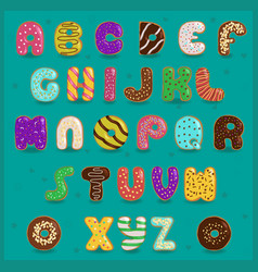 Alphabet Donuts vector image
