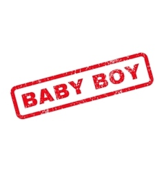 Baby Boy Text Rubber Stamp vector