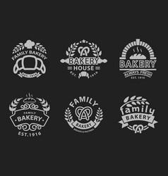 Bakery badge icon fashion modern style black white vector