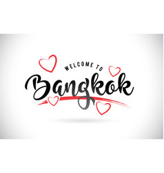 bangkok welcome to word text with handwritten vector image