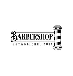 Barber shop vintage logo isolated on a white vector