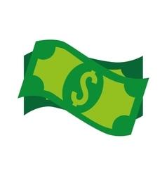 Bills dollar money cash isolated vector