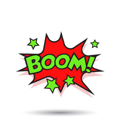 Boom comic sound effects sound bubble speech with vector