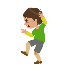Boy shouting and swearing part of bad kids vector