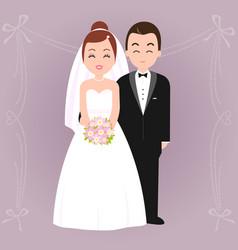 Bride and groom vector