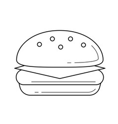 Burger line icon vector
