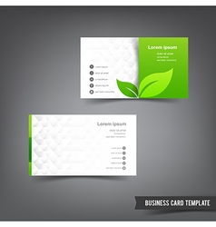 Business Card template set 026 Green clean and vector