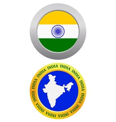button as a symbol INDIA vector image vector image