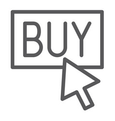 Buy now line icon shopping and commerce buy vector