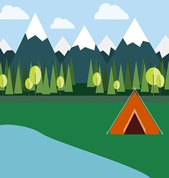 Camping in Wild Nature vector