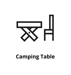 camping table line icon vector image