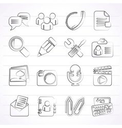 Chat Application and communication Icons vector