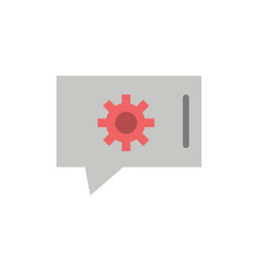 Chat preferences chat setting chat support flat vector