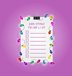 Christmas to-do list vector