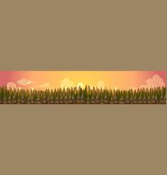 Coniferous forest silhouette templatesummer vector