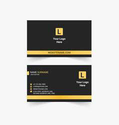Creative business card design vector