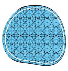 Decorative ornament in a circular composition vector
