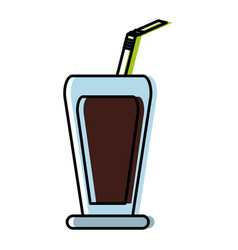 Drink glass icon vector