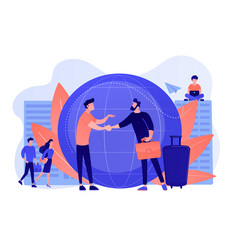 Expat work concept vector