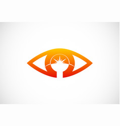 eye abstract optic logo vector image
