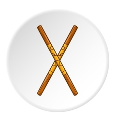 Fighting stick icon cartoon style vector image