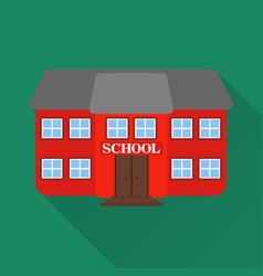 flat design style modern school vector image